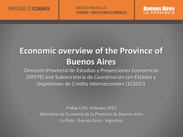 Economic Overview of the Province of Buenos Aires