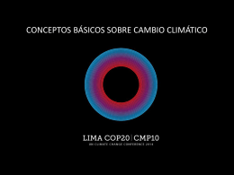 impactos del el cambio climático en diferentes sistemas