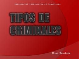 TIPOS DE CRIMINALES