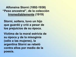 """Alfonsina Storni (1892-1938) """"Peso ancestral"""""""