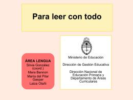 Lectura en voz alta - Ministerio de Educación