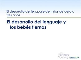El desarrollo del lenguaje y los bebés tiernos