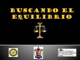 BUSCANDO EL EQUILIBRIO