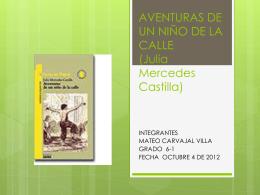 AVENTURAS DE UN NIÑO DE LA CALLE (Julia Mercedes Castilla)
