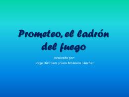 Prometeo, el ladrón del fuego - Lengua catellana y Literatura 2º ESO B