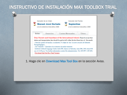 MANUAL PARA DESCARGAR MAX TOOL