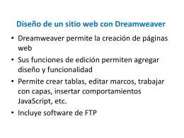 Diseño de un sitio web con Dreamweaver