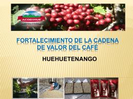 FORTALECIMIENTO DE LA CADENA DE VALOR DEL CAFÉ