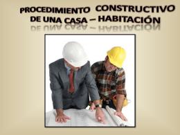 procedimiento constructivo de una casa – habitación indice