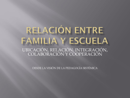 La relación entre familia y escuela