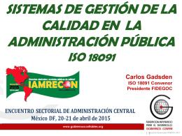 Más allá de la transparencia, el ISO 18091