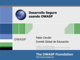 Descargar Slides Desarrollo Seguro OWASP