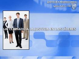 T11.U1.L5 – Un Llamado a la Justicia en los Líderes