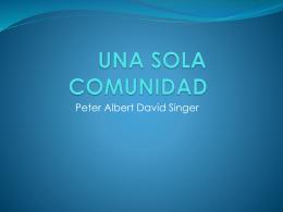 singer una sola comunidad