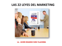 LAS 22 LEYES INMUTABLES DEL MARKETING Al Ries * Jack Trout