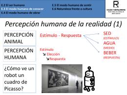 E.2 El ser humano E.5 El modo humano de sentir E.3 El modo