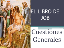 TEMA 5 EL LIBRO DE JOB