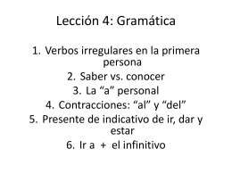 Lección 4: Gramática