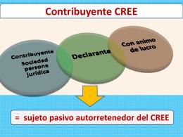 Autorretenciones CREE. D.R. 1828/13