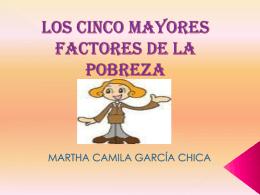 LOS CINCO MAYORES FACTORES DE LA POBREZA