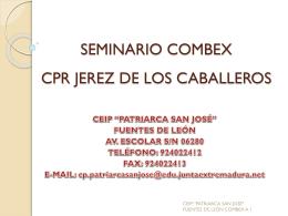 SEMINARIO COMBEX CPR JEREZ DE LOS CABALLEROS
