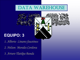 data warehouse - Universidad Autónoma del Estado de Morelos