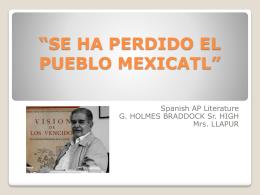 SE HA PERDIDO EL PUEBLO MEXICATL (314821)