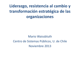 Gestión del cambio en organizaciones, programas y