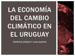 la economía del cambio climático en el uruguay