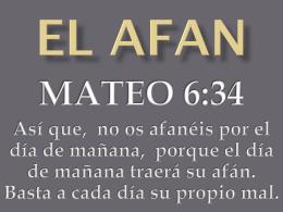 EL AFAN - Nuevo Pacto Dallas