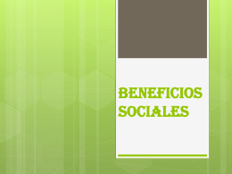 BENEFICIOS SOCIALES