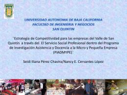 Estrategia de Competitividad para las empresas del Valle de San