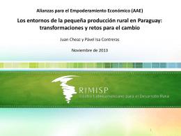 Los entornos de la pequeña producción rural en Paraguay