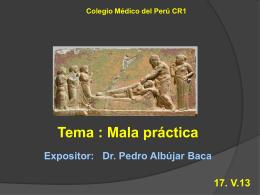 Mala Práctica - Dr. Pedro Albújar Baca