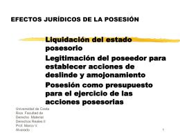 Liquidación del Estado Posesorio