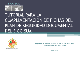 TUTORIAL FICHAS SISTEMAS DE SEGURIDAD DOCUMENTAL