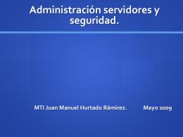 Administración servidores y seguridad.