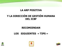 TIPS DE ORDEN Y ASEO