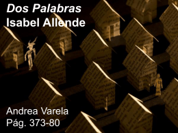 Dos palabras - Isabel Allende (Andrea Varela)