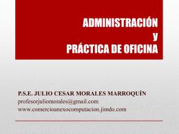 ADMINISTRACIÓN y PRÁCTICA DE OFICINA