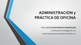 ADMINISTRACIÓN y PRÁCTICA DE OFICINA - Inicio