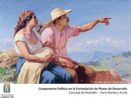 El componente político en la formulación y aprobación de los planes