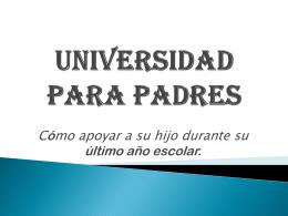 Visiten las universidades