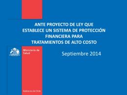 Proyecto de Ley Medicamentos de Alto Costo