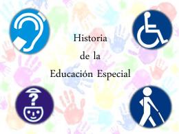 historia educación especial.