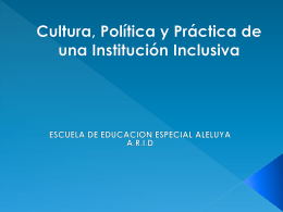 Escuela de Educación Especial Aleluya
