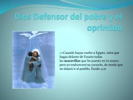 Dios Defensor del pobre y el oprimido