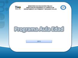 Coordinación Propuesta Aula Edad Técnico – curricular