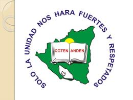 Presentación de CGTEN/ANDEN/Nicaragua