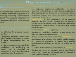 PMP programa maestro de producción